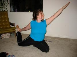 Me Doing Yoga circa 2002